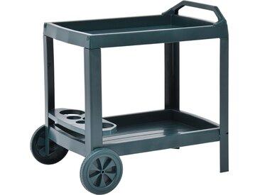 Chariot à boissons Vert 69x53x72 cm Plastique - vidaXL