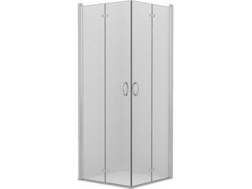 Cabine de douche à portes pivotantes-pliantes ESG 75x75x185 cm - vidaXL