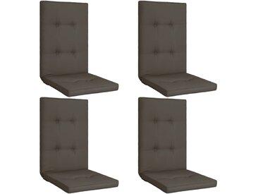 Coussins de chaise de jardin 4 pcs Anthracite 120x50x5 cm - vidaXL
