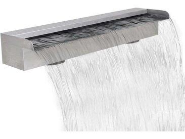 Lame d'eau rectangulaire 60 cm Acier inoxydable pour piscine - vidaXL