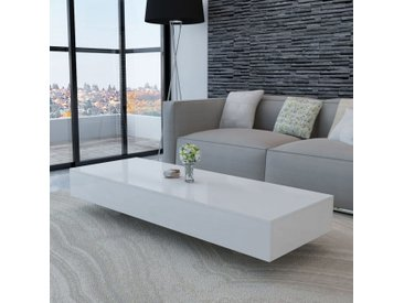 Table basse Haute brillance Blanc   - vidaXL