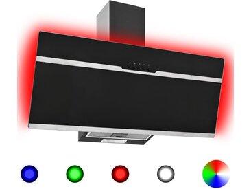 Hotte avec LED RVB 90 cm Acier inoxydable et verre trempé - vidaXL