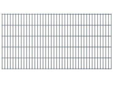 Panneaux de clôture de jardin 2D 2,008x1,03 m 24 m total Gris - vidaXL