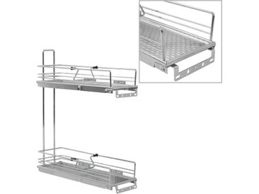 Panier à 2 niveaux métallique de cuisine 47x15x54,5 cm - vidaXL