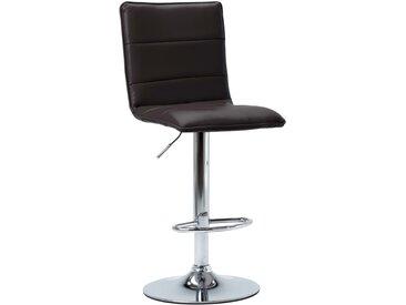 Chaise de bar Marron Similicuir - vidaXL