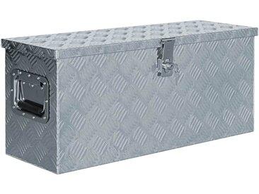 Boîte en aluminium 76,5 x 26,5 x 33 cm Argenté - vidaXL