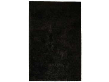 Tapis à poils longs 120 x 170 cm Noir  - vidaXL