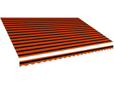 Toile d'auvent Orange et marron 500x300 cm - vidaXL