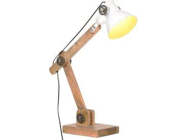 Lampe de bureau industrielle Blanc Rond 58x18x90 cm E27 - vidaXL