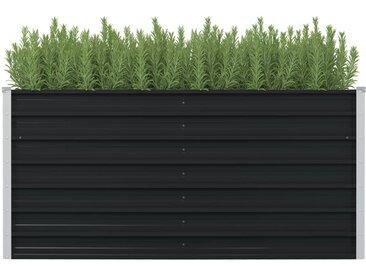 Jardinière surélevée Anthracite 160x80x77 cm Acier galvanisé - vidaXL