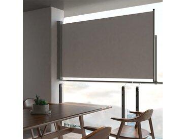 Auvent latéral rétractable de patio 140 x 300 cm Gris - vidaXL