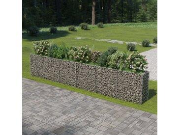 Jardinière à gabion Acier galvanisé 540 x 50 x 100 cm - vidaXL