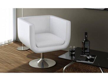 Tabouret de bar Blanc Similicuir - vidaXL