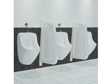 Brise-vue pour urinoir mural Céramique Blanc - vidaXL