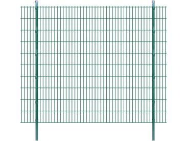 Panneaux et poteaux de clôture 2D pour jardin 2008x2030 mm 24 m - vidaXL
