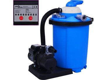 Pompe de filtration à sable avec minuterie 550 W 50 L - vidaXL