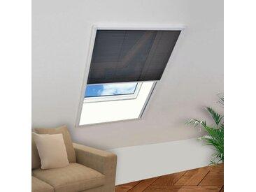 Moustiquaire plissée pour fenêtre Aluminium 80 x 100 cm  - vidaXL