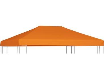 Toile supérieure de belvédère 310 g / m² 4 x 3 m Orange - vidaXL