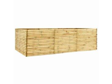 Lit surélevé de jardin 300x100x96 cm Bois de pin imprégné 19 mm - vidaXL