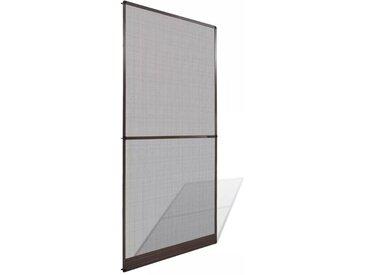 Moustiquaire à charnières marron pour porte 100 x 215 cm - vidaXL
