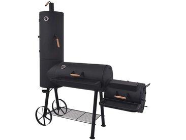 Barbecue au charbon de bois avec étagère inférieure Noir XXL - vidaXL