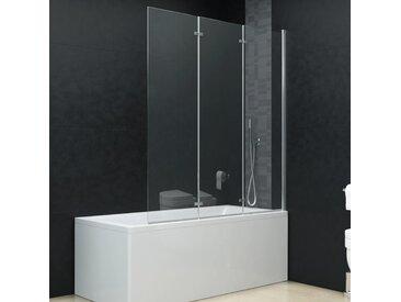 Cabine de douche pliable 3 panneaux ESG 130x138 cm - vidaXL