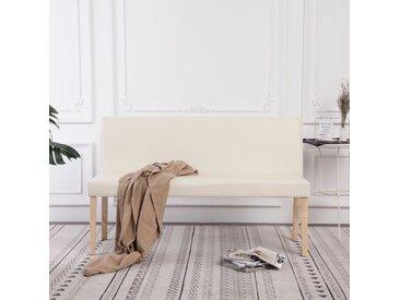 Banc 139,5 cm Crème Similicuir - vidaXL