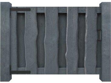 Portillon Bois de pin imprégné FSC 100 x 75 cm Gris - vidaXL