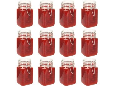 Pots à confiture en verre avec serrure 12 pcs 260 ml - vidaXL
