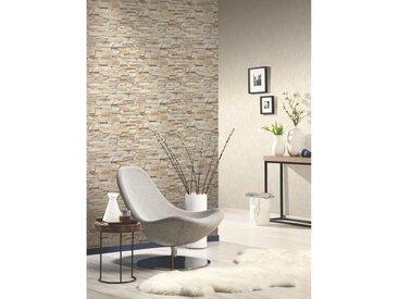 Rouleaux de papier peint 2 pcs Marron et gris 0,53x10 m Brique - vidaXL