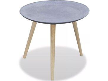 Table d'appoint ronde Gris Aspect de béton  - vidaXL