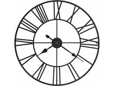 Horloge murale vintage avec mouvement à quartz Métal 80 cm XXL - vidaXL