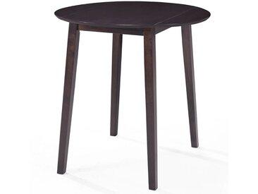Table de bar Bois massif de Sesham 90 x 91 cm Marron foncé - vidaXL