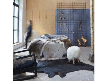 Tapis en peau de vache véritable Noir 150 x 170 cm - vidaXL