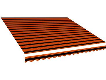 Toile d'auvent Orange et marron 450x300 cm - vidaXL
