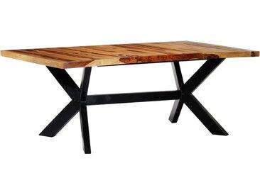 Table à dîner 200x100x75 cm Bois de Sesham solide - vidaXL