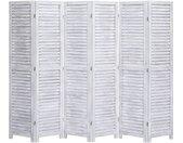 Cloison de séparation 6 panneaux Gris 210x165 cm Bois - vidaXL