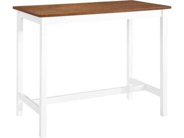 Table de bar Bois massif 108 x 60 x 91 cm - vidaXL