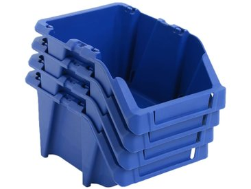 Bac de rangement empilable 250 pcs 103x165x76 mm Bleu - vidaXL