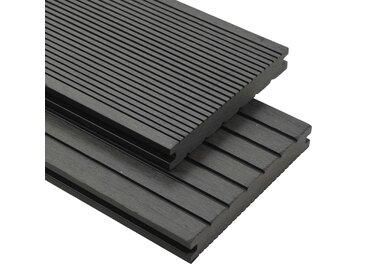 Panneaux de terrasse solides et accessoires WPC 20m² 2,2 m Gris - vidaXL