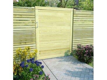 Portail de jardin Bois de pin imprégné FSC 125 x 100 cm - vidaXL