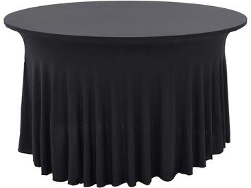 Nappes élastiques de table avec jupon 2 pcs 150x74cm Anthracite - vidaXL