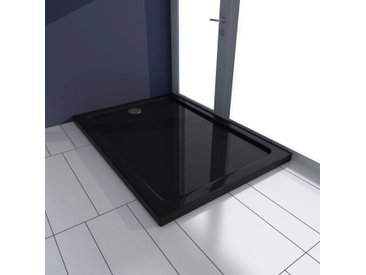 Receveur de douche rectangulaire ABS Noir 70 x 100 cm - vidaXL
