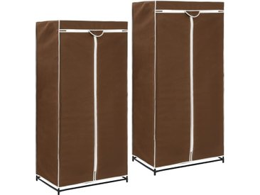 2 pcs Garde-robes Marron 75x50x160 cm - vidaXL