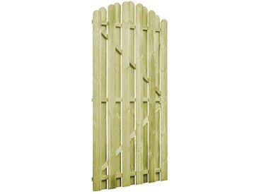 Portail de jardin Bois de pin imprégné 100x195cm Design d'arche - vidaXL