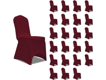 Housses élastiques de chaise Bordeaux 24 pcs - vidaXL