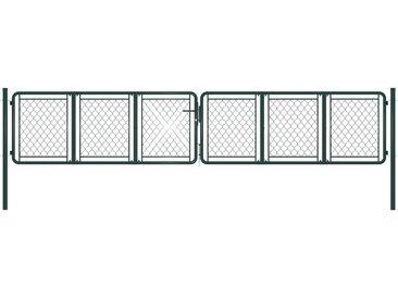 Portail de jardin Acier 400 x 75 cm Vert - vidaXL