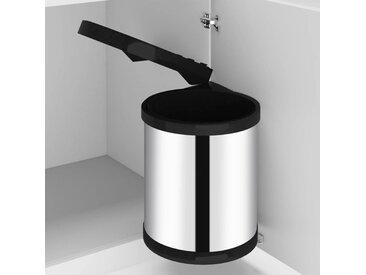 Poubelle intégrée de cuisine Acier inoxydable 12 L - vidaXL