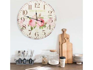 Horloge murale vintage Fleur 60 cm - vidaXL