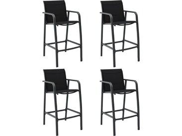 Chaises de bar de jardin 4 pcs Gris Txtilène - vidaXL